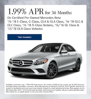 Certified 1.99% APR for 36 Months 4/4/2019