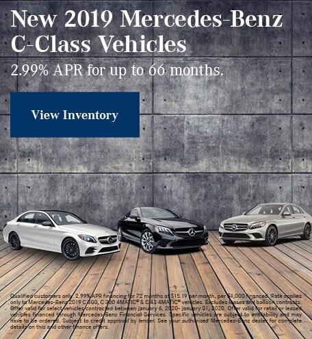 January New 2019 Mercedes-Benz C-Class Vehicles Finance Offer