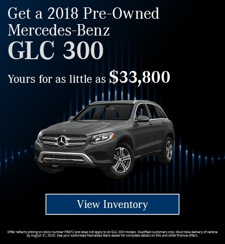 August 2018 Pre-Owned Mercedes-Benz GLC 300 Cash Offer