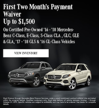 October First Two Month's Payment Waiver - Up to $1,500