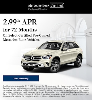 March 2.99% APR for 72 Months Offer