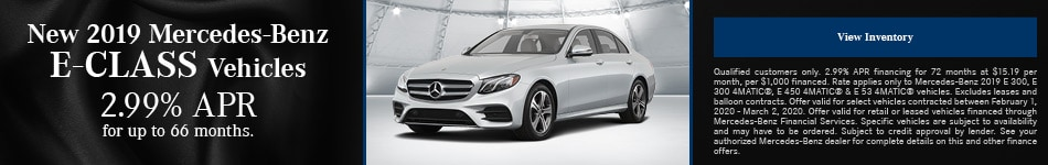 February New 2019 Mercedes-Benz E-Class Vehicles Finance Offer