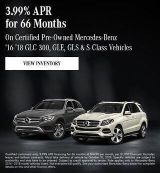 October CPO Mercedes-Benz '16-'18 GLC 300, GLE, GLS & S-Class Offer