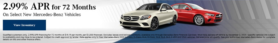 October 2.99% APR for 72 Months Offer