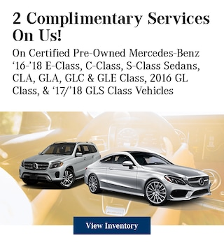 Complimentary Services on Certified Pre-Owned Mercedes-Benz 5/8/2019