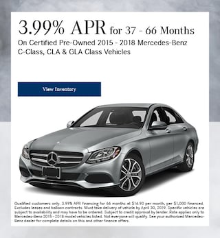 Certified 3.99% APR for 37-66 Months 4/4/2019