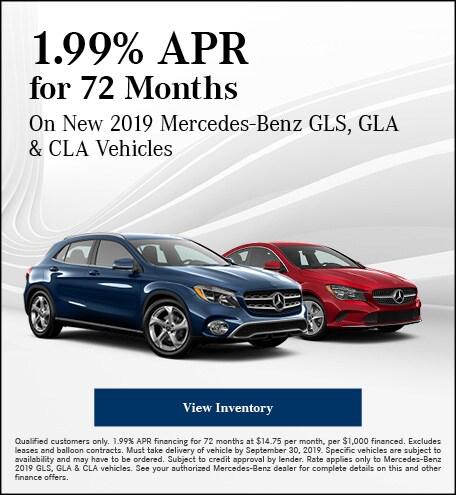 September 1.99% APR for 72 Months Offer