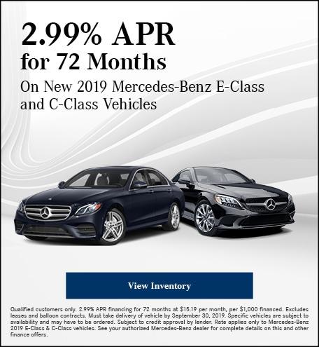 September 2.99% APR for 72 Months Offer