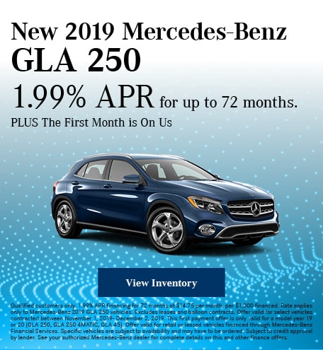 November New 2019 Mercedes-Benz GLA 250 Offer