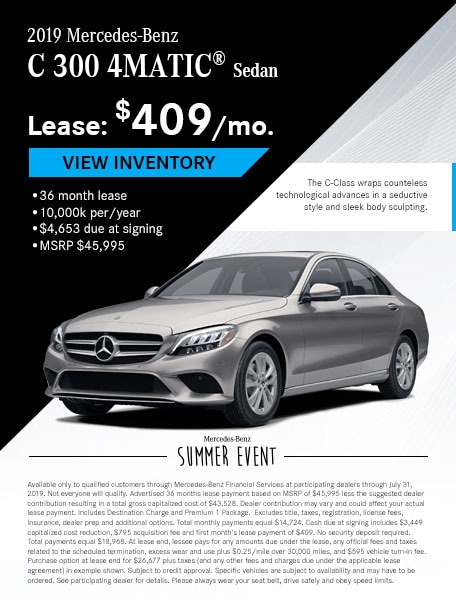July - C 300 Lease Offer