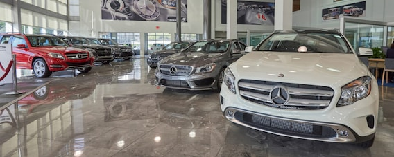 Interior vis of Mercedes-Benz of Houston Greenway's finance center and showroom