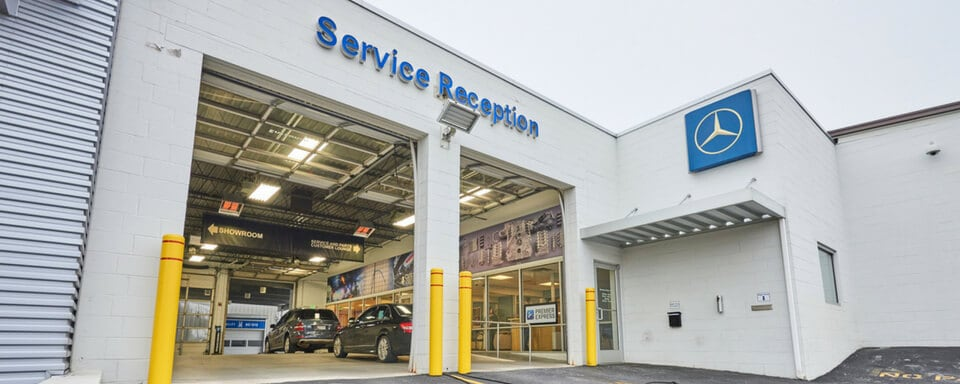 Mercedes Benz Of Hunt Valley Service Center Entrance