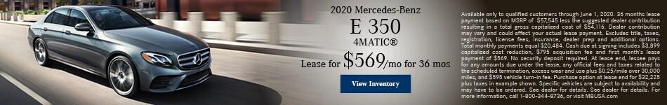2020 Mercedes-Benz E 350 4MATIC®