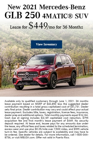 New 2021 Mercedes-Benz GLB 250 4MATIC® SUV - May
