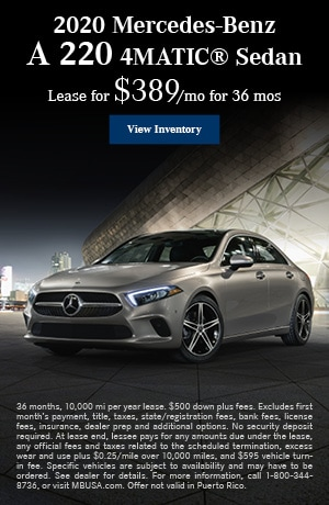 Pre-Owned 2020 Mercedes-Benz A 220 4MATIC® Sedan - March