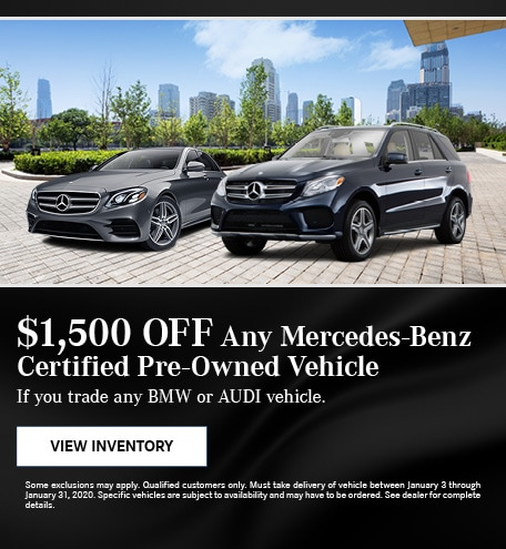 January $1,500 Off Any Mercedes-Benz Certified Pre-Owned Vehicle Offer