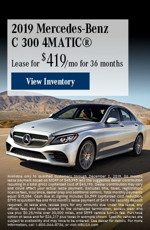 November 2019 Mercedes-Benz C 300 4MATIC® Lease Offer