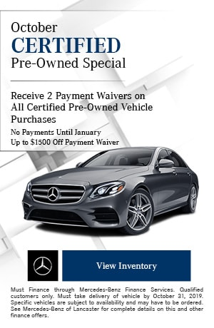 October Certified Pre-Owned Special