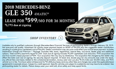 '18 GLE 350 Lease Offer