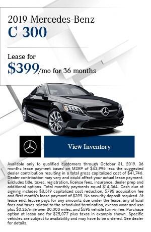 October 2019 Mercedes-Benz C 300 Offer