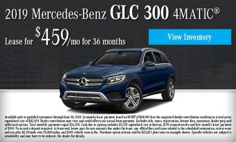 June 2019 GLC 300 4Matic Lease Offer