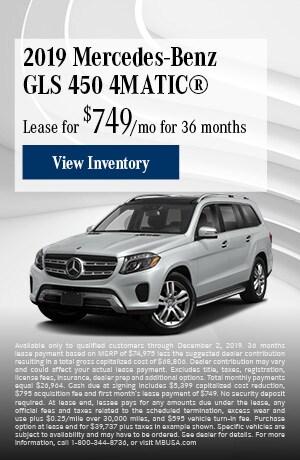 November 2019 Mercedes-Benz GLS 450 4MATIC® Lease Offer