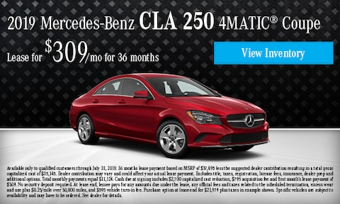 July 2019 CLA 250 4Matic Lease Offer