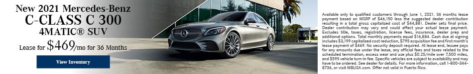New 2021 Mercedes-Benz C-Class C 300 4MATIC® SUV - May