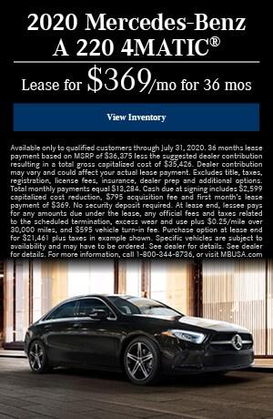 2020 Mercedes-Benz A 220 4MATIC®
