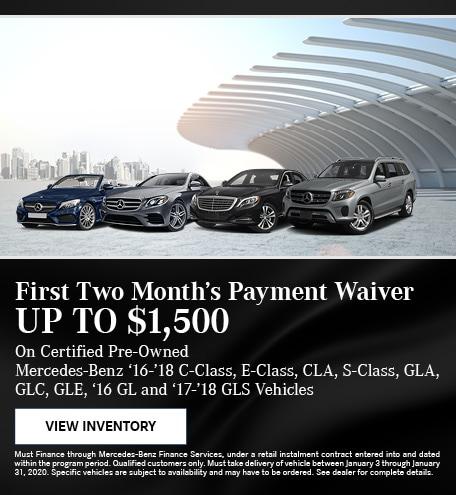 January First Two Month's Payment Waiver Offer