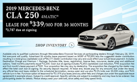 '19 CLA 250 Lease Offer