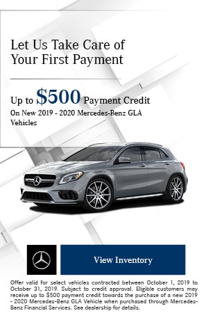 October Up to $500 Payment Credit Offer