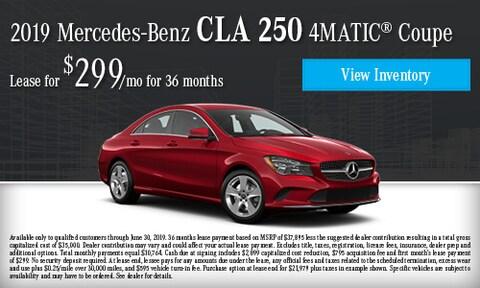June 2019 CLA 250 4Matic Lease offer