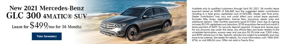 New 2021 Mercedes-Benz GLC 300 4MATIC® SUV - April
