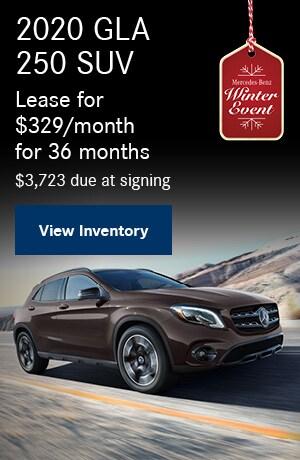 2020 GLA 250 SUV - November Offer