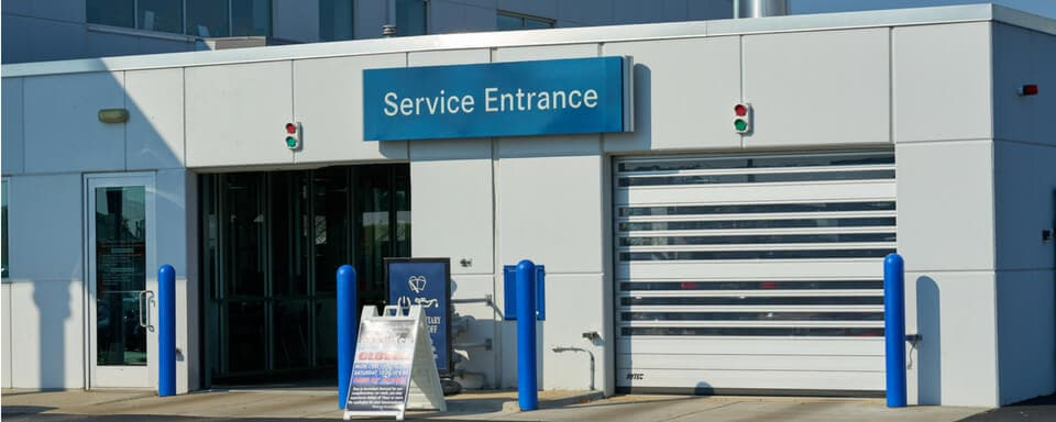 Mercedes Benz Of Naperville Service Center Entrance