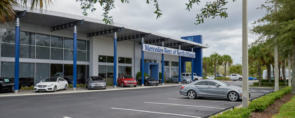 Exterior view of Mercedes-Benz of North Orlando