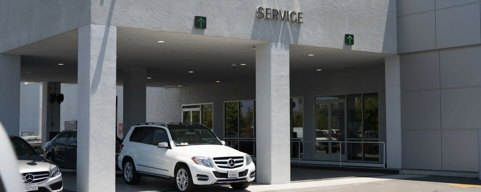 Entrance To Mercedes Benz Of Oxnardu0027s Service Drive