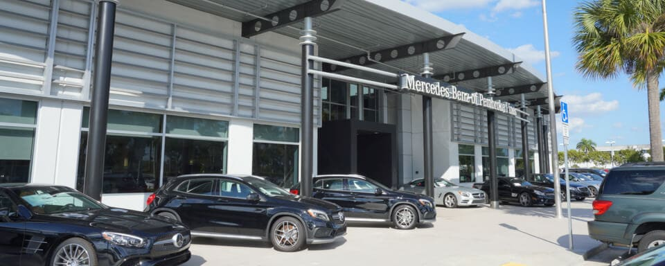 Exterior view of Mercedes-Benz of Pembroke Pines