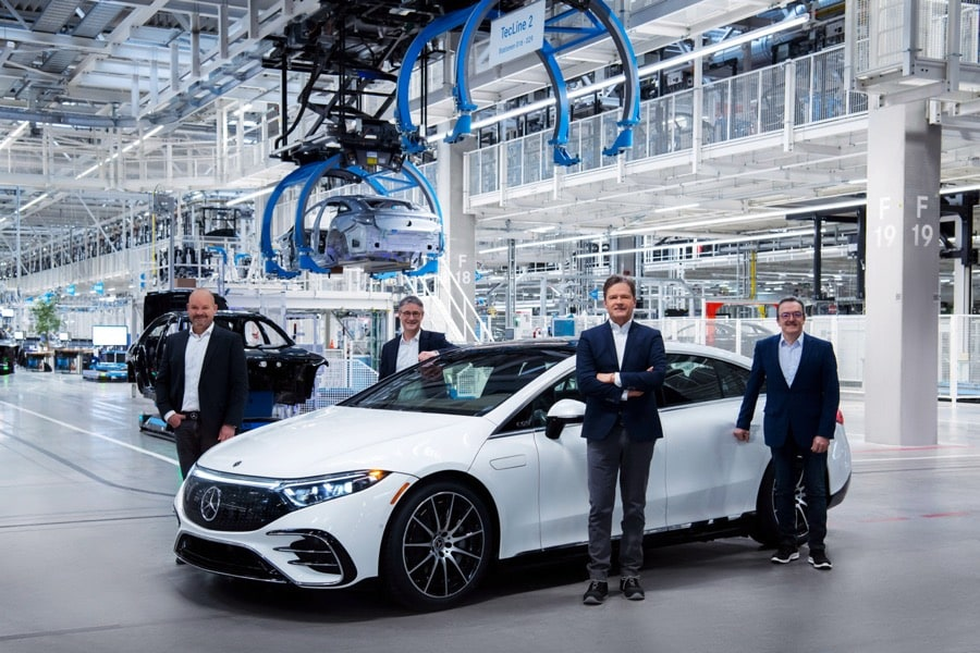 Mercedes-Benz EQS production start at Factory 56 Sindelfingen, Germany