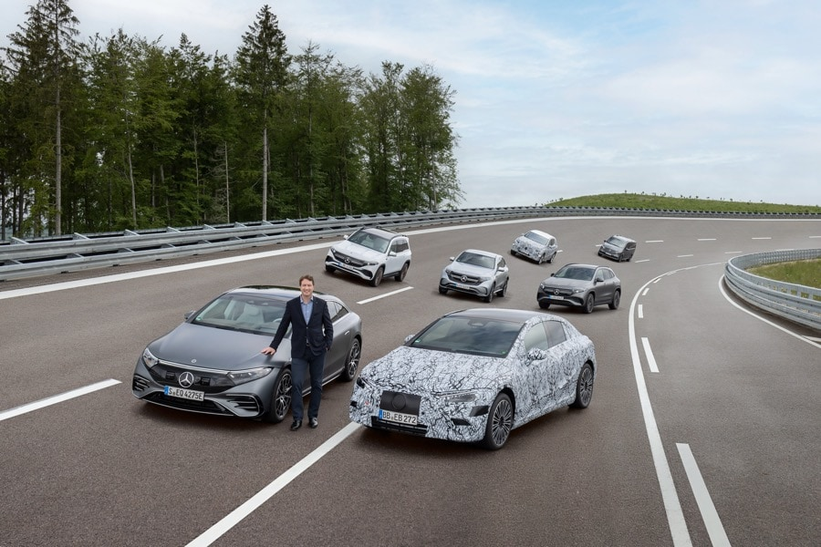 Mercedes-Benz electric vehicle lineup proving grounds