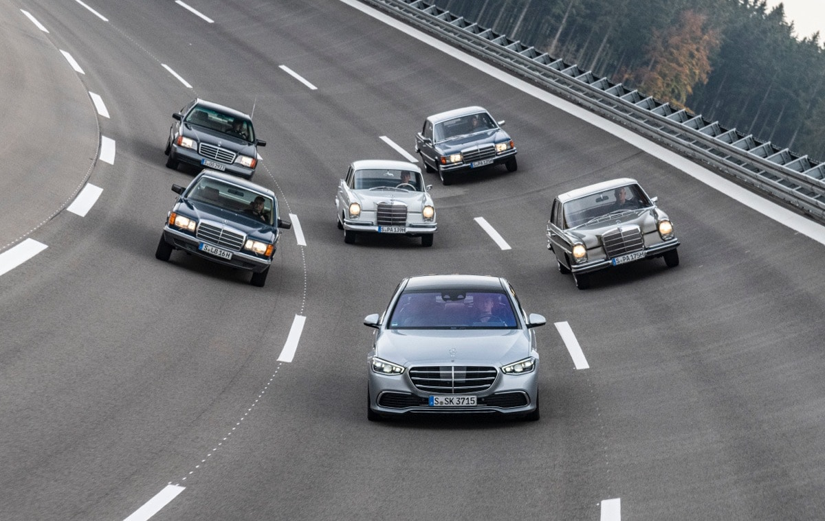 Mercedes-Benz S-Class 70 years generations