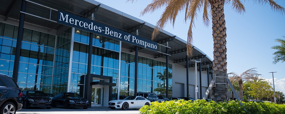 Exterior view of Mercedes-Benz of Pompano serving Boca Raton