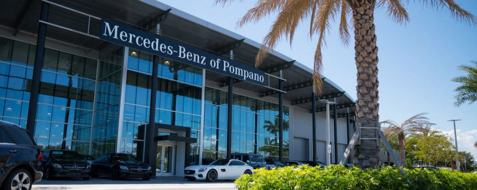 Outside view of Mercedes-Benz of Pompano