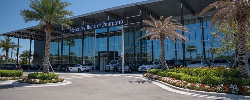 Exterior view of Mercedes-Benz of Pompano serving Fort Lauderdale