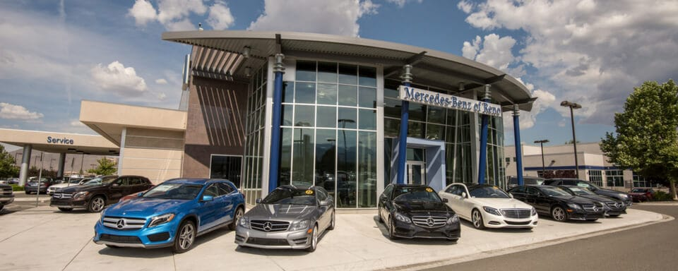 Exterior view of Mercedes-Benz of Reno