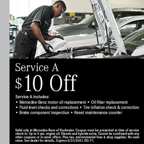Service A - $10 Off