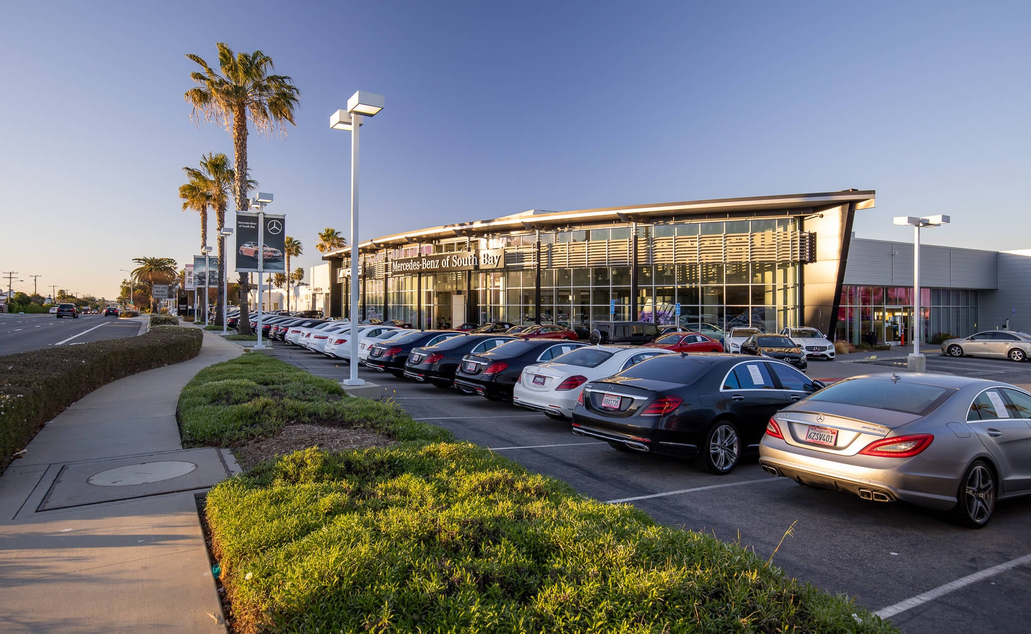 Exterior view of Mercedes-Benz of South Bay