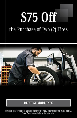 $75 Off the Purchase of Two (2) Tires