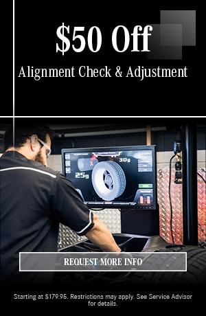 $50 Off Alignment Check & Adjustment
